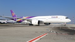 HS-THG Thai Airways International Airbus A350-941 (Nick Air Aviation Photography) Tags: img3549 hsthgthaiairwaysinternationalairbusa350941 airbusa3509 beauty planesspotting airside nickairphotography rushhour airport canoneos6d phuphaman thaiairways