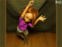 Keep calm and do Yoga (Seiji-Univers) Tags: seiji seijiunivers yosd bjd doll poupée jyotsana cerisedolls lillycat chibi chibbi lana tan ebony purple french girl relax zen yoga life sport energy flexible good