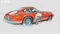 F Daytona s (Stefan Marjoram) Tags: sketch drawing ipad pro procreate apple pencil car vintage racing plein air