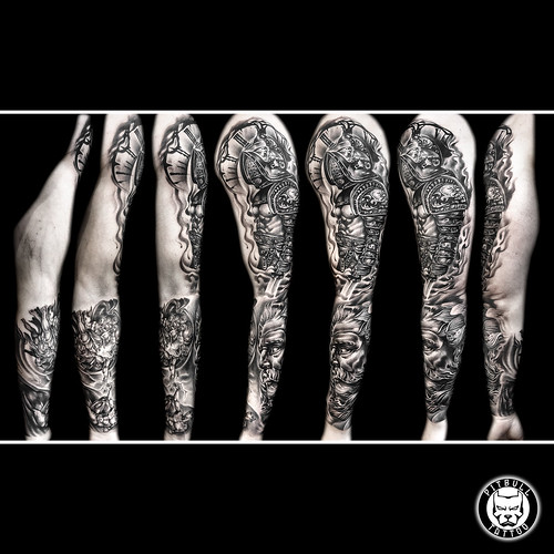 Full Sleeve Black & Grey (Realistic)