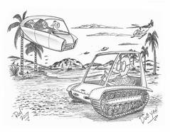 DubYah (rod1691) Tags: bw scifi grey concept custom car retro space hotrod drawing pencil h2 hb original story fantasy funny tale automotive art illistration greyscale moonpies sketch sexy