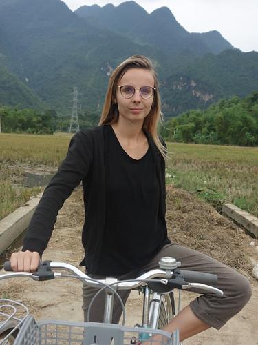 C'est à vélo que nous nous sommes déplacés dans les villages proches de Mai Chau.