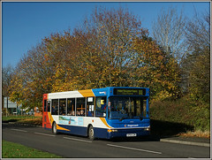 34592 (KP04 GZM) (Jason 87030) Tags: transbus daventry northampton rugby slf pointer dart d1 midlands route service timetable autumnal trees color colour bus sony ilce alpha a6000 lens tag flickr publictransport 2017 sunny transit 34592 kp04gzm