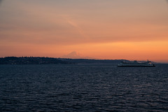 Wildfire sunset (Photos by Christopher Percy) Tags: seattle mount rainier wildfire california smoke orange nature boats californiawildfires ferry sonya7rii gmaster glow forestfire