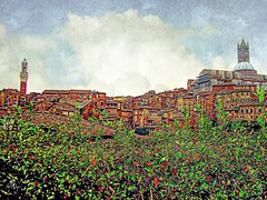 walking into Siena... (ellynwriting - health slowdown) Tags: siena tuscany italy duomo campanile colours txeepclivesax