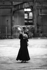 Let's take a moment~ germany (~mimo~) Tags: portrait photography street candid flowers duisburg deutschland germany nicotine cigarette smoke woman
