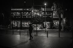 Boardriders.... (Dafydd Penguin) Tags: boardriders shop shopping night shots after dark hand held people raw street scene blackandwhite blackwhite monochrome bw noir town city urban barcelona spain catalunya catalonia nikon df nikkor 35mm af f2d