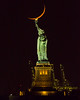 Statue of Liberty ([ raymond ]) Tags: moon newyork nyc statueofliberty 0b5a4735 crescent torch