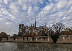 Autumn Clouds, Notre-Dame (elliott845) Tags: notredame paris notredamedeparis france europe cathedral seine