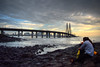 Bandstand (Debatra) Tags: bandstand bandra bandrafort sealink bandraworlisealink india mumbai bombay maharashtra 1855mm 1855 d3300 nikon nikkor sea sunset water skyporn sky architecture bridge