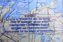 No fly Zone. (Les Fisher) Tags: coldwar noflyzone sovietairspace berlin jetnavigationchart chart