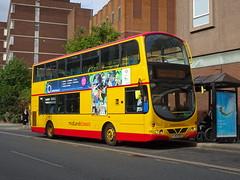 Midland Classic 45 Burton (Guy Arab UF) Tags: midland classic 45 lj53bgo daf db250 wright pulsar gemini bus burton upon trent new street derbyshire independents buses arriva london dw28
