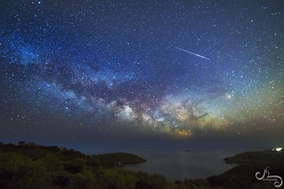 Vía Láctea sobre Cap de Creus