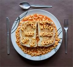 Rude Words (AngelCrutch) Tags: rudewords spaghettiletters stilllife plate dinner humour fun amusing spaghettiontoast