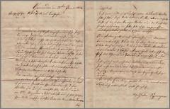Letter from Hesse to Hamburg 1854-01-22 (165×211 mm) (palMeir) Tags: brief letter 1854 gemünden germany handwriting kurrentschrift