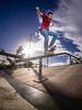EM1A1554 (AXelRivera.net) Tags: eric lugofrontside crooked getolympus omd em1 mzuiko 9mm bodycap fisheye f8 strobist flashpoint evolv 200 camera right triggered by r2 olympusgodox x1to wwwaxelriveranet skateboarding skatepark skater
