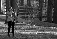 Photography, Cantigny Park. (EOS) (Mega-Magpie) Tags: canon eos 60d outdoors people person lady woman girl cantigny park wheaton il illinois dupage usa america bw black white mono monochrome nature trees photography