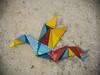 Pajarita multicolor (palm z) Tags: lisboa lisbon portugal papiroflexia manualidad pajarita color colores pared