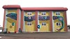 Street art by BirdO - Riverview, New Brunswick (Fred:) Tags: festivalinspire inspirefestival birdo riverview chocolateriverstation nouveaubrunswick newbrunswick inspire festival jerryrugg eel anguille moncton sea serpent animal snake cocoaroom cocoa room jerry rugg fundy chocolate river station walls murale mural murals murales wallart urban street art urbain nouveau new brunswick graffiti artist optical illusion optique colossal yellow
