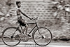 Just a stare (chinmaymohapatra) Tags: bicycle india children boy mono stare village flicker