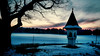 1st Sunday of Advent (camerito) Tags: snow schnee landscape christian wayside shrine materl evening abend blue hour sunset landschaft camerito flickr edited processed twb