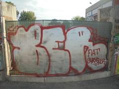 227 (en-ri) Tags: ber fiat crysler bianco rosso torino wall muro graffiti writing parco dora