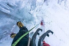 Ice climbing (nordanheidar) Tags: iceland icesar ice iceclimbing iceaxes absailing ropework winter snow crampons lasportiva rope mountaineering blackdiamond