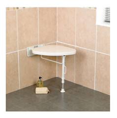 Shower Seat White Line Wall Mounted Left (Cadherine) Tags: shower seat white line equipment products accessories occupational therapy disabled elderly seniors handicapped united kingdom