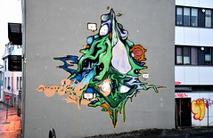 Graffiti around the streets of the capital of Iceland, Reykjavik. (One more shot Rog) Tags: reykjavik iceland cold art arty artists artist graffiti wallart streetart paint painting paintings wall street talented talent spray spraypaint streets