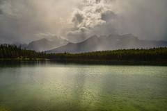 Rain over Herbert (NUNZG) Tags: landscape nature canadian rockies mountain clouds lake rain banff alberta outdoors