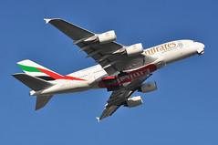 EK0012 LGW-DXB (A380spotter) Tags: takeoff departure climbout gearinmotion gim retraction belly airbus a380 800 msn0205 a6eou expo2020dubaiuaehostcity decal sticker 38m longrangeconfiguration 14f76j429y الإمارات emiratesairline uae ek ek0012 lgwdxb runway08r 08r london gatwick egkk lgw