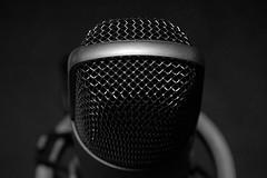"Macro:  microphone (Peeb-OK) Tags: black white bw blackandwhite monochrome dramatic microphone macro micro nikon ""macro zone or macromondays stonerhymingzone mondays"" ""stone rhyming"