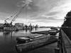 (mahler9) Tags: jaym december 2015 navyyard boston charlestown bw blackwhite waterfront crane raft canon powershot