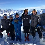 U16's from Big White, Red Mountain and Black Dogs Ski Club training in Tignes, France - Luke McMillan (Big White), Lauren Koper (Black Dogs), Mike Osatiuk (Red Mountain), Heiko Ihns (Red Mountain), Kristof Panke (Red Mountain)