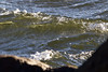 Light Through a Wind-Whipped Current (brucetopher) Tags: water waves wet sunlight backlit backlight ocean sea beach creek tide current rip