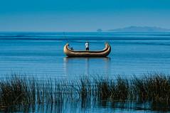 Puno region, Peru (David Ducoin) Tags: alone america boat ducoindavid lake peru puno southamerica titicaca totora pe