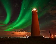 Faro de Gardur (zapicaña) Tags: gardur faro lighthouse islandia iceland aurora boreal borealis northernlights night noche