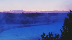 Morning & Mist Meet in Yellowstone (mtmelody14) Tags: fog yellowstonepark morning madisonriver