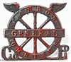 London General Hat Badge (M C Smith) Tags: badge hat colour red pentax k7 black londongeneral white wings letters