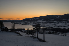 Norwegian nature (steffos1986) Tags: nature landscape sundown sunset snow mountainside mountain countryside norway norwegen noruega lake fjord light sky color contrast helios81h nikond800 sun town farm farmland view water ice frozen vintage primelens