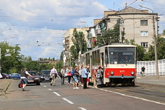 2017-06-22, Kyiv, Vul. Pavla Usenka (Fototak) Tags: tram strassenbahn tatra 077 kyiv ukraine ligne29