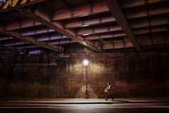 Light (_Okobe_) Tags: night light wall man shadow colour colours fashion art artist style design photo photography shot pic london urban street road soul men alone dark bag phone
