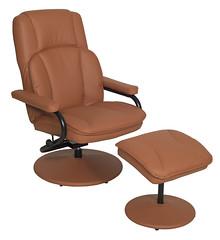 N1701TN_1 (RegencyOfficeFurniture) Tags: regency regencyofficefurniture regencyseating seating chair recliner reclining lounge swivel armchair vinyl ottoman footrest rotating lightweight impresa n1701 toffee tan
