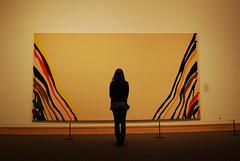 Contemplate Art (R. WB) Tags: moma museum off modern art new york manhattan painting girl usa