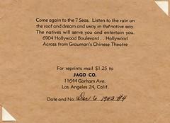 Bob Brooks' 7 Seas (jericl cat) Tags: bob brooks 7 seas nightclub souvenir photo wwii serviceman hollywood seven history