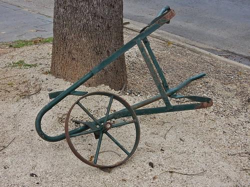 Broken Wheelbarrow Frame