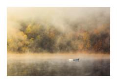 Ladybower Mist (Vemsteroo) Tags: peakdistrict peaks ladybower reservoir water lake mist fog sunrise dawn morning trees forest autumn fall atmospheric boat beautiful nature canon 5d mkiv 100400mm beautyinnature landscape waterscape derbyshire yorkshire high