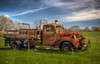 Rusty Fire Truck (donnieking1811) Tags: tennessee mtcrest pikeville firetruck rusty outdoors grass green sky blue clouds dodge hdr canon 60d lightroom photomatixpro