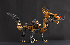 Thrugont Thunderthroat's Mechanical Dragon (Pate-keetongu) Tags: lego moc dragon dwarf dwarves dwarfpunk