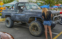 Invited To Write (swong95765) Tags: truck write chalk woman female lady shorts cute offroad dirt